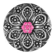Ginger Snaps WILDFLOWER - LOVE SN15-07 Interchangeable Jewellery Snap Accessory