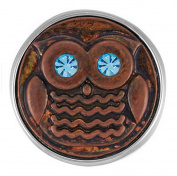 Ginger Snaps OWL BE WATCHING YOU SN20-10 Interchangeable Jewellery Snap Accessory