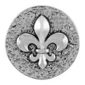 Ginger Snaps FLEUR DE LIS SN04-03 Interchangeable Jewellery Snap Accessory