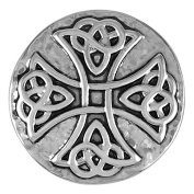 Ginger Snaps HAMMERED CELTIC CROSS SNAP SN03-10 Interchangeable Jewellery Snap Accessory