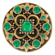 Ginger Snaps BRASS HEYDAY GREENS SN06-83 Interchangeable Jewellery Snap Accessory