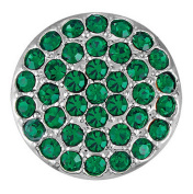 Ginger Snaps RITZY - EMERALD SN06-06 Interchangeable Jewellery Snap Accessory