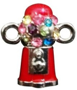 "Loom Charm ""Gumball Machine"" With Rhinestones To Add To Your Rubber Band Bracelet!!!"