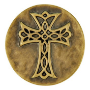 Ginger Snaps BRASS HAMMERED CROSS SN03-12 Interchangeable Jewellery Snap Accessory