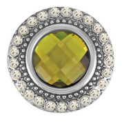 Ginger Snaps HEIRLOOM - OLIVINE SN05-70 Interchangeable Jewellery Snap Accessory