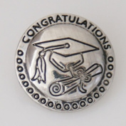 20 mm Metal Chunk Graduation Cap and Diploma for Chunk Snap Charm Bracelet