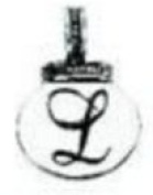 Ganz Initial Keyrings/Necklace - L
