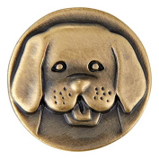 Ginger Snaps BRASS DOG HEAD SN20-46 Interchangeable Jewellery Snap Accessory