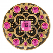 Ginger Snaps BRASS HEYDAY PINKS SN06-82 Interchangeable Jewellery Snap Accessory
