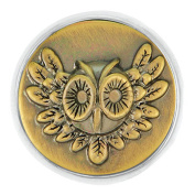 Ginger Snaps BRASS NIGHT OWL SN20-35 Interchangeable Jewellery Snap Accessory