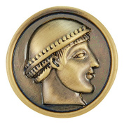 Ginger Snaps BRASS ROMAN HEAD SN06-74 Interchangeable Jewellery Snap Accessory