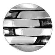 Ginger Snaps JAGGED STRIPES SN06-49 Interchangeable Jewellery Snap Accessory
