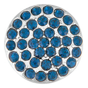 Ginger Snaps RITZY - MONTANA BLUE SN07-04 Interchangeable Jewellery Snap Accessory