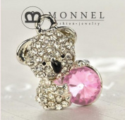 H69 Wholesale 3 Pcs Koala Bear Crystal DIY Charms Pendants