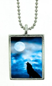 Wolf Moon for Abundance Photo Image Pendant Charm Amulet Talisman By Starlinks