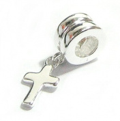 Queenberry Sterling Silver Cross Dangle Bead Charm For Pandora Troll Biagi Chamilia European Charm Bracelets