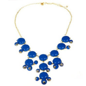 Bubble Necklace Blue Inspired by J. Crew