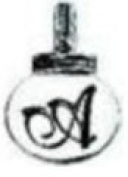 Ganz Initial Keyrings/Necklace - A