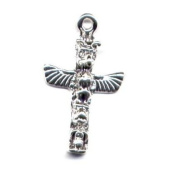 Gift Boxed Sterling Silver Totem Pole Charm Native American Design Jewellery