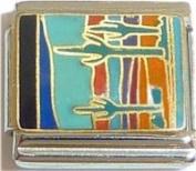 Cactus In Desert Italian Charm Bracelet Jewellery Link