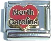 North Carolina Italian Charm Bracelet Jewellery Link