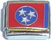 Tennessee State Flag Italian Charm Bracelet Jewellery Link