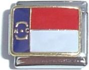North Carolina State Flag Italian Charm Bracelet Jewellery Link
