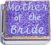 Mother Of The Bride On Purple Italian Charm Bracelet Jewellery Link