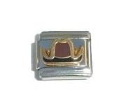 Cowboy Hat Italian Charm Bracelet Jewellery Link