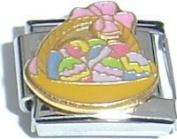 Easter Basket Italian Charm Bracelet Jewellery Link