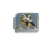 Hockey Player Italian Charm Bracelet Jewellery Link