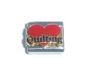 Quilting Heart Italian Charm Bracelet Jewellery Link