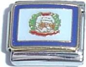 West Virginia State Flag Italian Charm Bracelet Jewellery Link