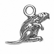 Gift Boxed Sterling Silver Beaver Charm Forest Animal Jewellery
