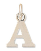15x12.5mm Greek Alphabet Letter Charm - Alpha .925 Sterling Silver