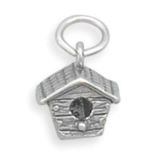 Sterling Silver Birdhouse Charm with 46cm Steel Chain