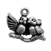 Gift Boxed Sterling Silver Lovebirds Charm Romantic Jewellery