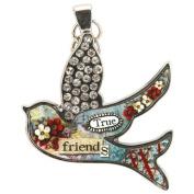 Santa Barbara Design Studio Bird Shaped Jewellery Charm by Artist Sally Jean