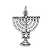 Menorah Charm Sterling Silver - Made in the USA