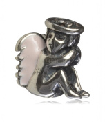 .925 Sterling Silver Angel Charm Fits Pandora, Biagi, Troll, Chamilla and Many Other European Charm #EC65