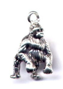 Gift Boxed Sterling Silver Gorilla Charm Animal Jewellery