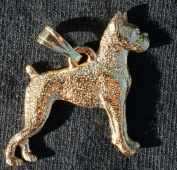 Boxer Dog 24k Gold Plated Pewter Pendant