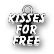 Kisses for Free Sterling Silver Charm