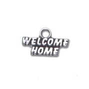 Welcome Home Sterling Silver Charm
