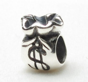 Bead Hunter Jewellery Money Bag .925 Sterling Silver Bead Charm Pandora Chamilia Biagi & European Bracelets Compatible
