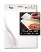 Adams Write'n Stick Easel Pad, 60cm x 80cm , 2-Pack, 30 Sheets per Pad, White