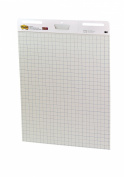 Post-it Easel Pad, 60cm x 80cm , White with Grid, 30-Sheets/Pad