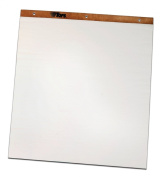 Adams Travel Easel Paper Pad with Easel, 22cm Hole Spacing, 60cm x 60cm , 25 Sheets per Pad, White