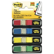 Post-it Flags 6834 - Small Flags in Dispensers, Four Colours, 35/Colour, 4 Dispensers/Pack-MMM6834