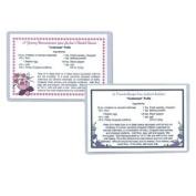 Laminating Pouches - 10 Mil Recipe Card (7.6cm - 0.5cm x 10cm - 1cm ) - 100/box